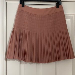 Blush Pleated JCrew Skirt